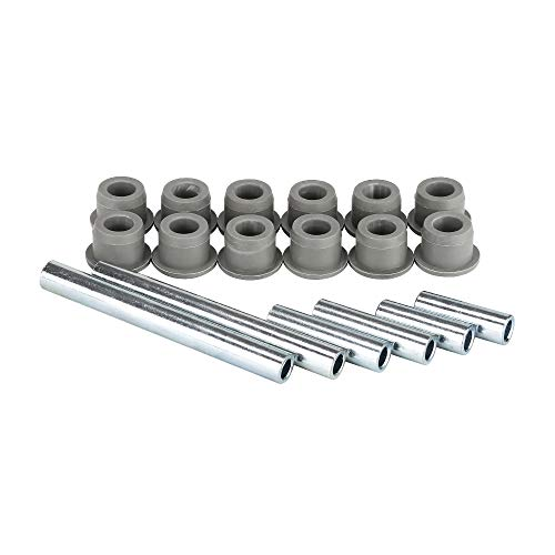 10L0L Golf Cart Bushing and Sleeve Kit for Club Car Precedent 2004-up, Use on Front Rear Leaf Spring Front Upper A Arm Suspension
