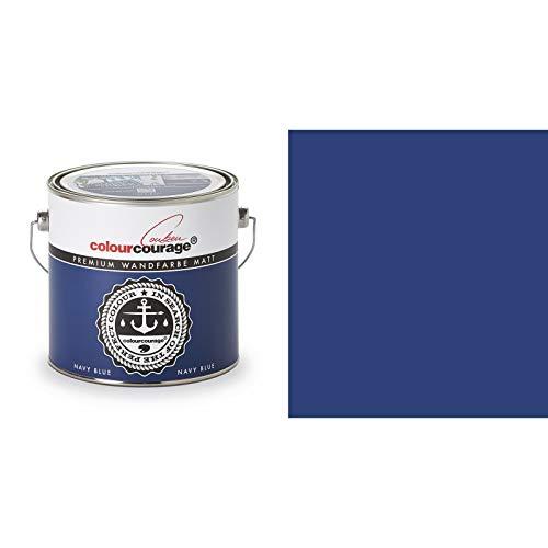 2,5 Liter Colourcourage Premium Wandfarbe Navy Blue Blau Maritimblau | L709449585 | geruchslos | tropf- und spritzgehemmt