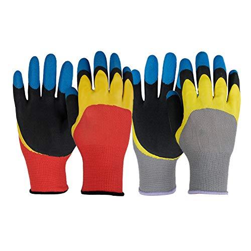 GSG Garden Gloves Men Women Thorn Proof Working Gloves,Outdoor Protective Nitrile Yard Gloves,3...