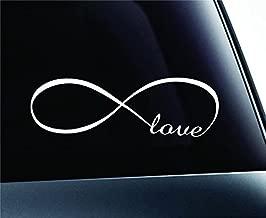 Infinity Love Symbol Decal Funny Car Truck Sticker Window (White), Decal Sticker Vinyl Car Home Truck Window Laptop