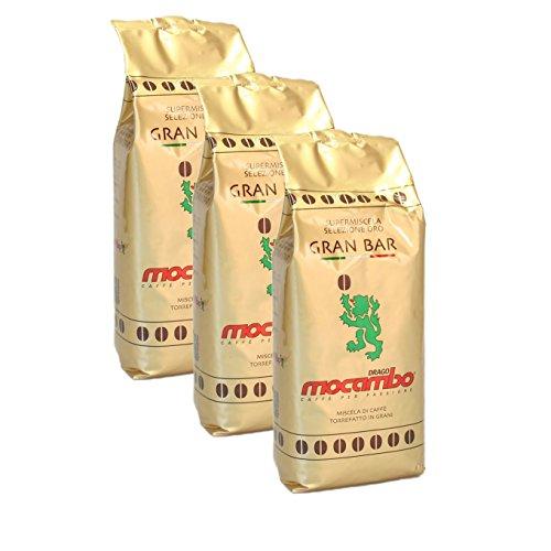 Mocambo Gran Bar Selezione Oro, 1000g ganze Bohne 3er Pack