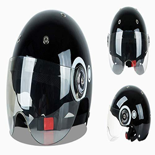 Bruce Dillon casco auto elettrica quattro stagioni mezzo coperto casco bicicletta parasole casco adulto casco regolabile collisione casco moto scooter casco