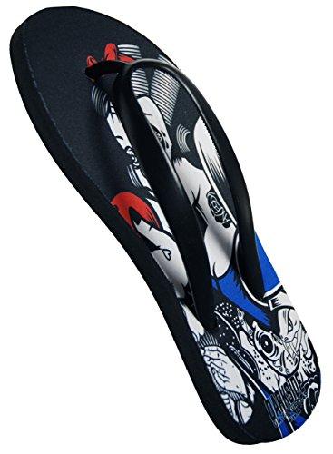 Darkside, Snow White Tattoo Flip Flops, Größe: Small (UK 4-6)