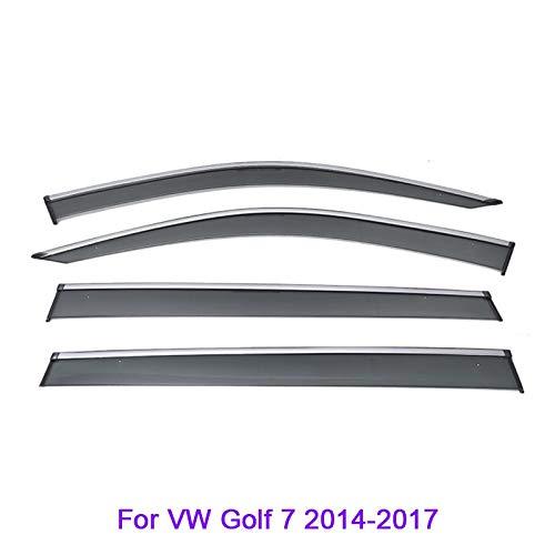 SYJY-SHOP Auto-Tür-Windabweiser nur for VW/Polo/Tiguan/Golf/Sportsvan/Teramont/Touran/Bora/Jetta Windabweiser Auto-Tür-Seitenscheibe Schotts (Farbe : for Golf7 14-17)