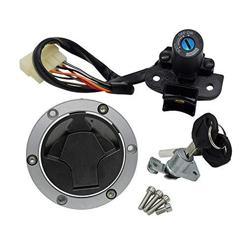Kit de interruptor de encendido para motocicleta Kawasaki Ninja 250R EX250J 300 EX300 2008-2015 con 2 llaves