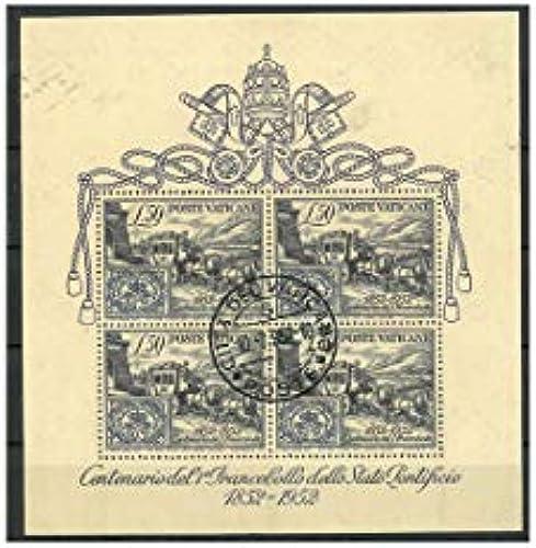 Goldhahn Vatikan Block 1 gestempelt Briefmarken für Sammler