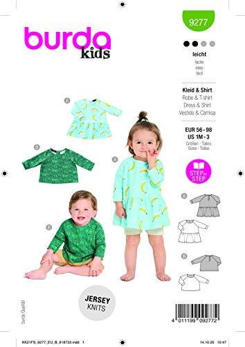 Burda 9277 Schnittmuster Kleid und Shirt (Kids, Gr. 56-98) Level 2 leicht