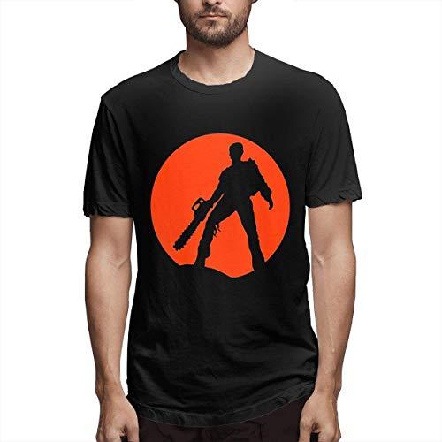 Camisetas Ash Vs The Evil Dead Camiseta Casual de Manga Corta con Cuello Redondo y Manga Corta para Hombre