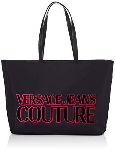Versace Jeans, Borsa a spalla Donna, Nero (899+401), 42x29x13 cm (W x H x L)