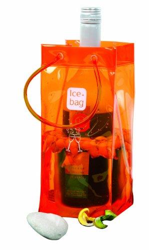Ice-Bag ® Design Collection, Maße 11 x 11 x 25,5 cm Orange - Weinkühler - Sektkühler - Flaschenkühler - 0,5 mm - VE : ab 1 STK.