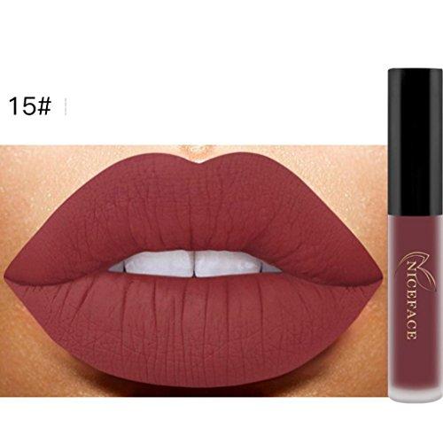 26 Couleurs Rouge à Lèvres Liquide Mat Waterproof Hydratant Brillant Maquillage à Lèvres (15#)