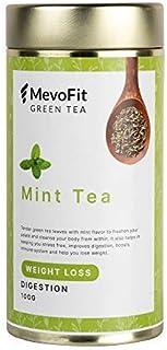 MevoFit 100% Natural Detox Tea | Green Tea Leaves | Loose Leaf Tea (100 GMS | 50 + Cups) (MevoFit Mint Green Tea)