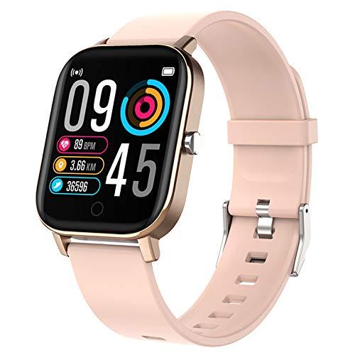 Polywell Fitness Armbanduhr mit Herzfrequenz, Fitness Tracker, Bluetooth Sportuhr Aktivitätstracker Schrittzähler, Schlaf Monitor, Kalorienzähler (Pink)