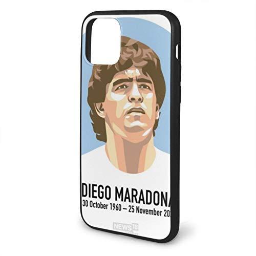 Voroy Diego Armando Maradona Rip Diego A-P-P-L-E - Funda básica para iPhone 11 y 11, a prueba de golpes, carcasa rígida para teléfono móvil, regalo de fútbol para niños iPhone 11-6.1