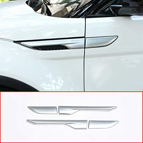 ABS Side Door Fender Air Vent Outlet Trim For Land Rover Range Rover Evoque 2012-2017 Silver