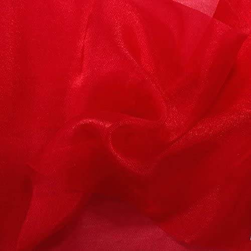 Sparkle Max 70% OFF Crystal Sheer Organza Fabric Crafts Shiny Charlotte Mall for Fashion