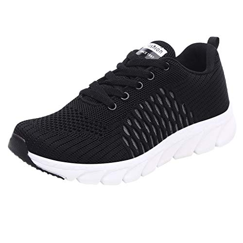 Frauen Mesh Outdoor Sneakers Knöchel flach Low-Heeled,Breathable Leisure Schuhe Damen Turnschuhe Frühlings Sommer Lightweight Running ShoesSport Platform-Joggingschuhe URIBAKY