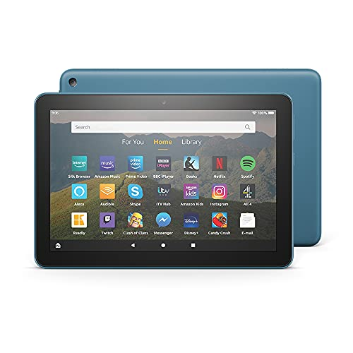 Fire HD 8 Tablet, 8' HD display, 32 GB, Twilight Blue - with Ads, designed...