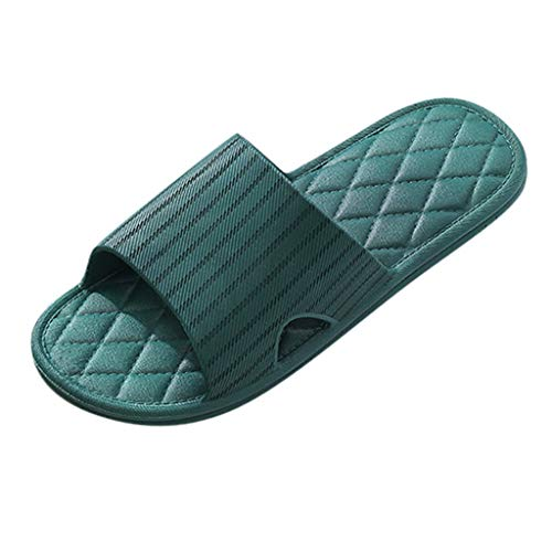 Buy Ros1ock Home Slippers Couple Summer Indoor Bathroom Slippers Casual Women Beach Shoes Green