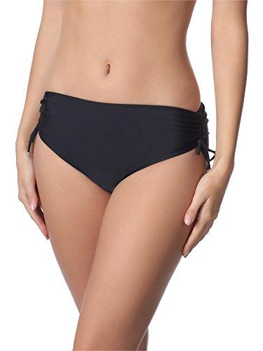 Merry Style Damen Bikini Unterteil M30 (Schwarz (9240), 42 (Herstellergröße: XL))