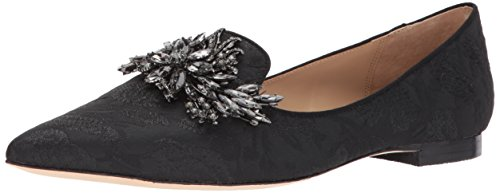 Badgley Mischka Women's Mandy Loafer Flat, Black, 7.5 M US