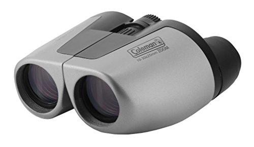 Coleman 10-30x25 Compact Zoom Binoculars, Silver (CZ103025)