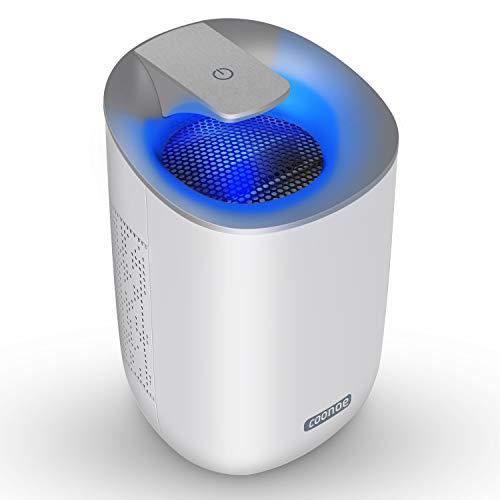 Luftentfeuchter Elektrisch 600ml COONOE Tragbarer Entfeuchter 300ml/24h Ultra Ruhig Intelligente Entfeuchter gegen Feuchtigkeit in der Küche Wohnwagen Büro und Garage