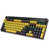 Zjcpow Teclado mecánica Completa Clave for no Correr retroiluminación PBT tecla Clave Teclado for Juegos for el Juego los Jugadores (Color: Negro-Amarillo Mixta) (Color: YellowBlack Mixta) xuwuhz