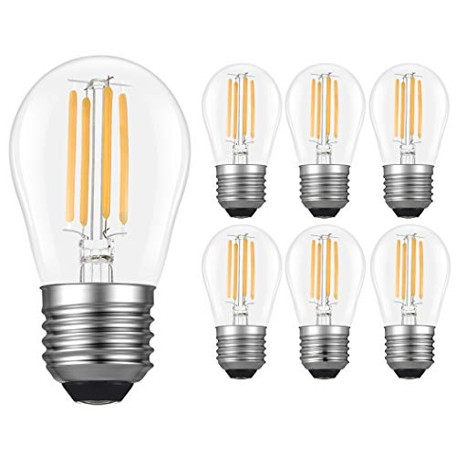 Paquete de 10 bombillas LED G45, luz blanca cálida 2700 K, 4 W (equivalente a 40 W), 400 lúmenes, bombillas regulables