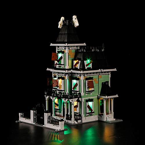 ADMLZQQ Conjunto de Luces (Architecture Monster Fighters Haunted House) Modelo de Construcción de Bloques - Kit de luz LED Compatible con Lego 10228(NO Incluido en el Modelo)