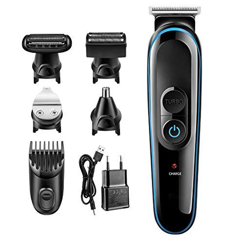XDXDO Multifonctionnel électrique Tondeuse électrique Clipper Tondeuse à Cheveux Rechargeable Set Rasoir de précision Trimmer USB étanche Rechargeable 5 en 1