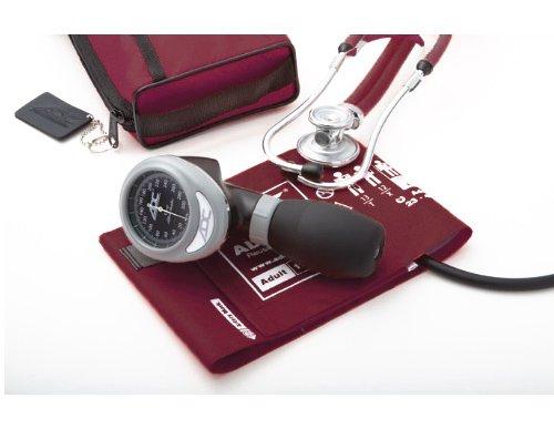 ADC 788-641-11 en Pro 's Combo I Palm aneroïde/scope-kit voor volwassenen, met prosphyg bloeddrukmeter en stethoscoop, Bourgondië