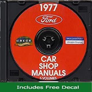 1977 Ford Lincoln Mercury Cars Shop Repair Service Manual 77 (with Decal)