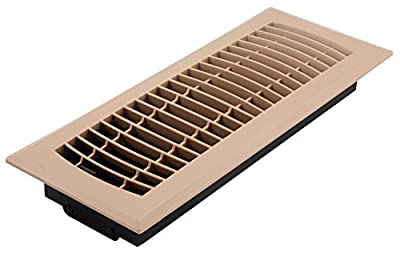 Accord APFRTPL412 Plastic Floor Register with Louvered Design, 4-Inch x 12-Inch, Taupe Finish