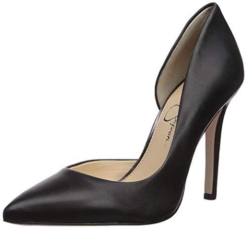 Jessica Simpson Women's Claudette Pump, Black Leather, 10 M US