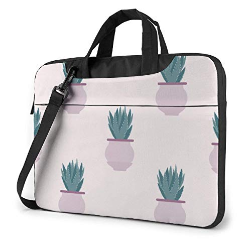 Cartoon Sukkulente Kaktus Pflanzen Muster 15.6 in Laptoptasche Computer Schutzhülle Handtasche Umhängetasche