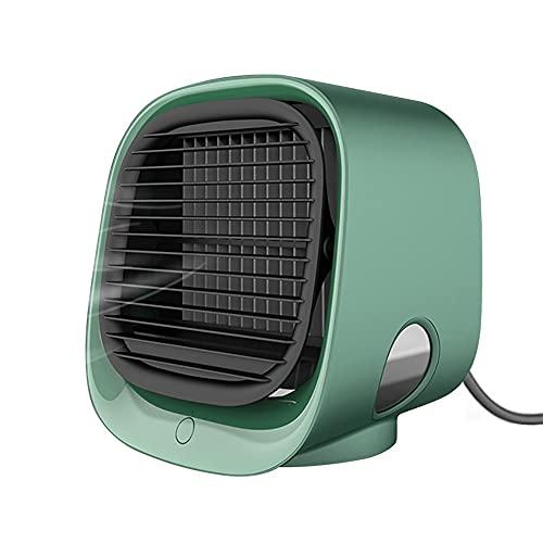 SPRINGHUA. Mini Air Condizionatore Portatile Multi-Funzione Umidificatore Multifier Purificatore USB Desktop Air Ventolatore con Serbatoio di Acqua Home 5 V Umidificatore (Color : As pic5)