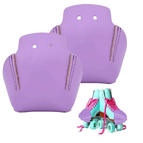 1 par de protectores antiarrugas para zapatos, juego de combinación suave y dura, protectores de piel artificial para patines de patín y zapatos casuales