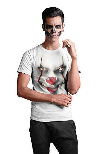 2020 Clown King Stephen T Pennywise Float Shirt Tee We All Down Here Horror Tshirt Top Mens Inspired Funny Creepy Scary - XL
