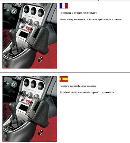 Kuda 080065 Halterung Kunstleder Schwarz Für Alfa Romeo Elektronik