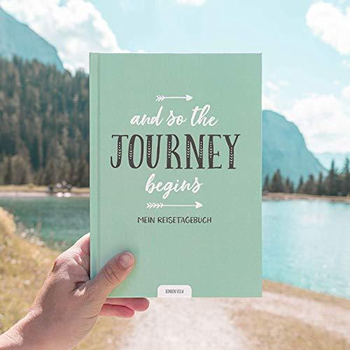 Mein Reisetagebuch, Urlaubstagebuch zum Ausfüllen und selbst gestalten, Hardcover mit 104 Seiten, um alle Erinnerungen einzufangen