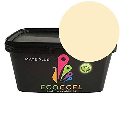 ECOCCEL - La miglior pittura, pittura plastica, pittura da pareti, pittura per interni, pittura bianca, pittura da esterni, pittura ecologica, 4 litri e 14 litri