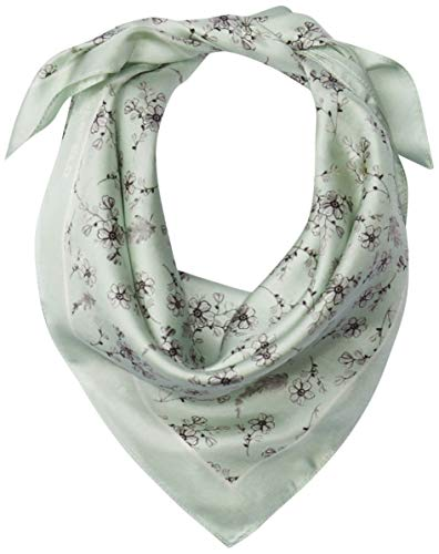 Karl Lagerfeld Paris Damen Ditsy Floral 100% Silk Twill Bandana Scarf Schal für kaltes Wetter, Surf Spray, Einheitsgröße