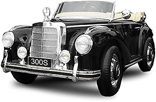 forma única Babycoches - Coche eléctrico para Niños Mercedes Benz 300S, 300S, 300S, con LICENCIA OFICIAL, con mando a distancia para control parental, 12V, Color negro  tomamos a los clientes como nuestro dios