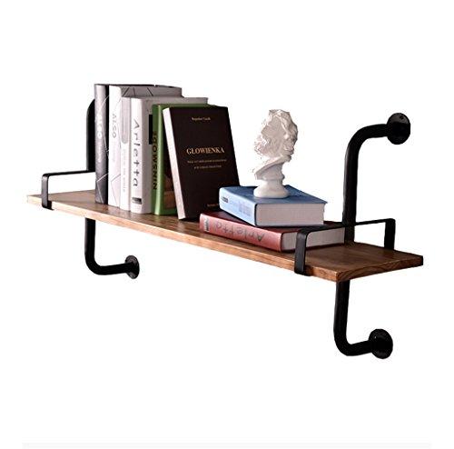 Étagère murale en fer forgé en bois pour salon de bar | LOFT - Étagère murale en forme de cube pour chambre à coucher comme étagère de rangement pour étagère | Clapet mural | Cadre d'unité flottante |