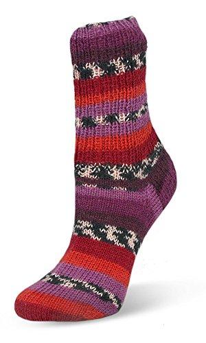 Neu 2017! 100g Flotte Socke Seide-Merino - Farbe: 4004 - rottöne - Hochwertige, sehr weiche Sockenwolle mit Seide und Merino, aber trotzdem Waschmaschinenfest.