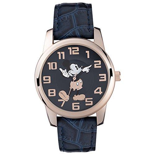 Mickey Mouse Unisex Analog Quarz Uhr mit PU Armband MK1456