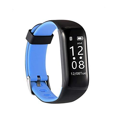 NBWS M5 Reloj Inteligente Bluetooth Deportivo Podómetro Notificación Mensaje Fitness Despertador Monitor de Presión Arterial Ritmo Cardíaco Impermeable Silicona Azul