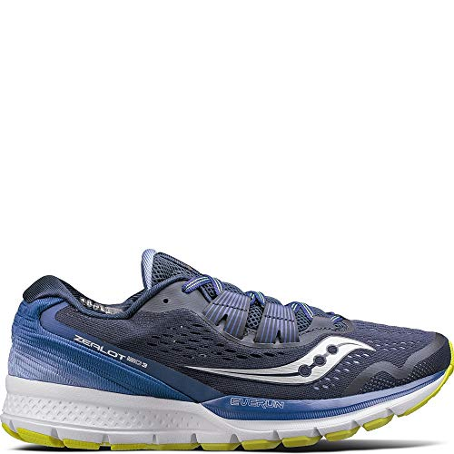 Saucony Women's Zealot ISO 3 Running Shoe, Navy Purple, 9 Medium US