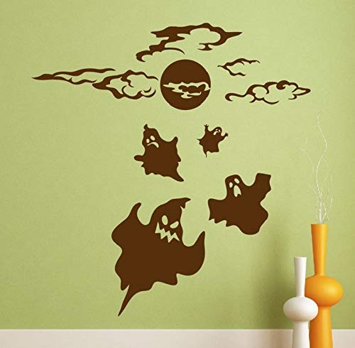 Wopiaol Stickers Halloween Ghost geest Halloween Wall Art Decor Home Decor 57 x 60 cm